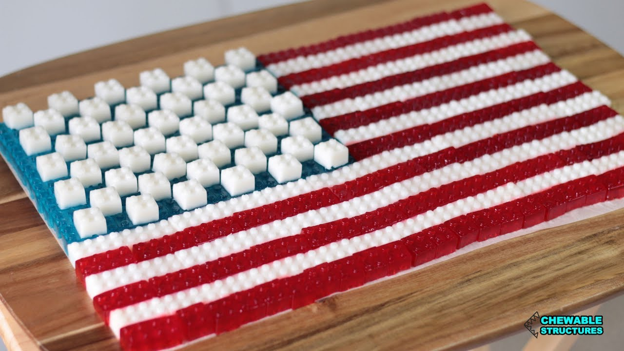 Fourth of July Desserts: American Flag Made of Gummy Lego ...