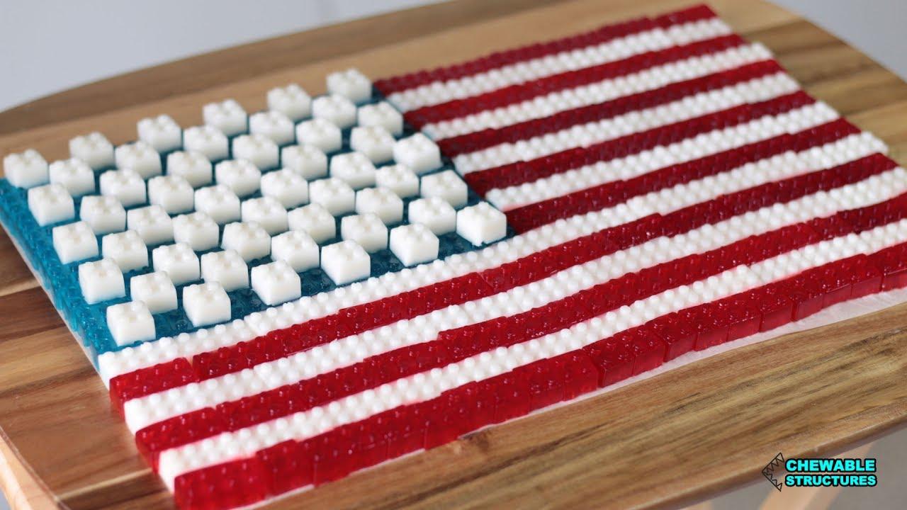 Fourth of July Desserts: American Flag Made of Gummy Lego ...
