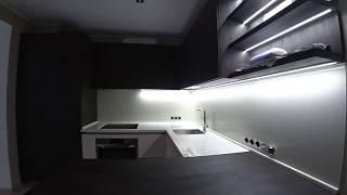 Кухня из ДСП cleaf . Столешница искусственный камень . Обзор . Мебельный бизнес .