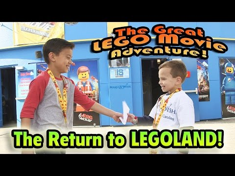 THE RETURN TO LEGOLAND! The GREAT LEGO MOVIE ADVENTURE Continues!  Make-A-Wish