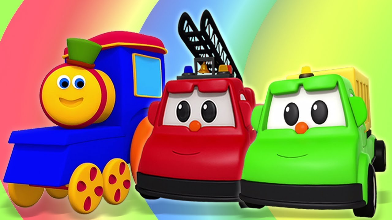 lær farver | gade køretøjer | Learn Colors | Street Vehicles | Kids Tv Danish | Børnesange Danske