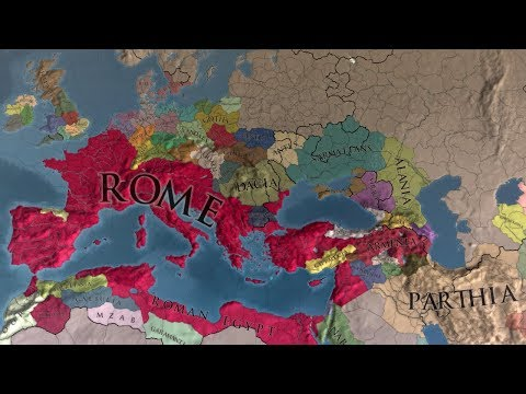 EU4 Collapse of the Roman Empire 1 AD to 1850 - Extended Timeline - AI Timelapse
