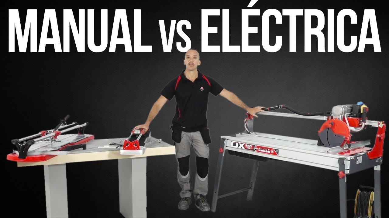 Cortadora Manual vs Cortadora Eléctrica RUBI