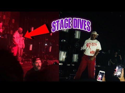 HE LET HIM STAGE DIVE!! // Ski Mask The Slump God Dallas Texas LIVE Show