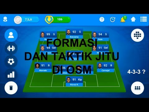 Formasi dan Taktik Jitu di OSM - Online Soccer Manager Indonesia