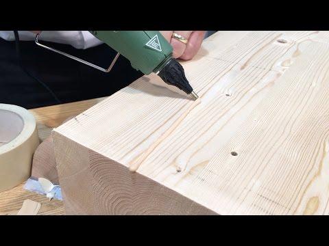 Knot Filler - Wood repair in pine wood
