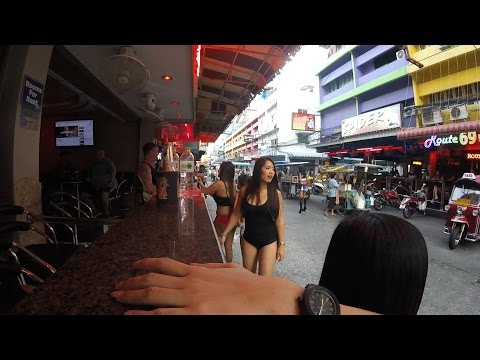 "Pattaya Soi 6 ""Bar Girls N Bums"" 2016 March 4th Thailand"