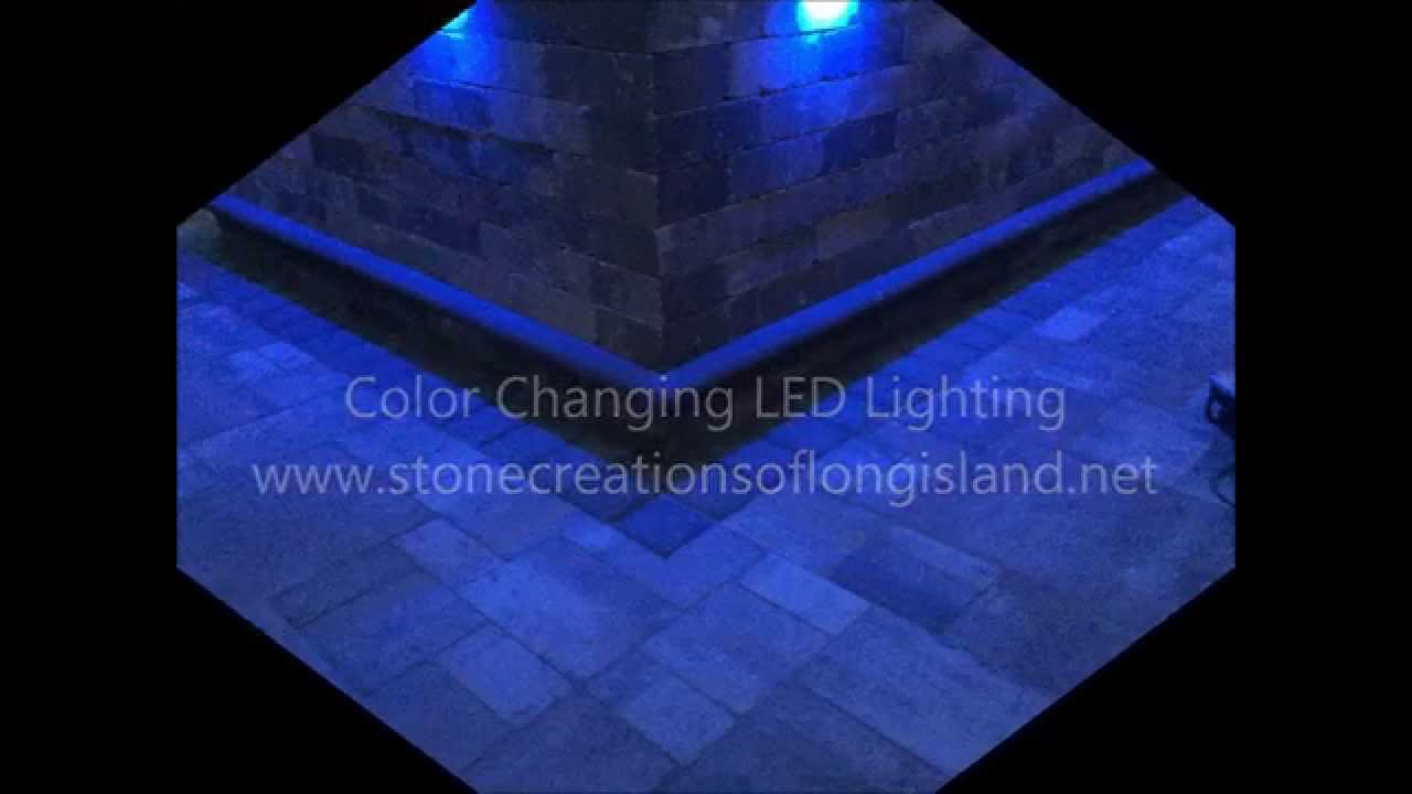 Cambridge Pavingstone Outdoor Kitchen W Color Changing Led Lighting
