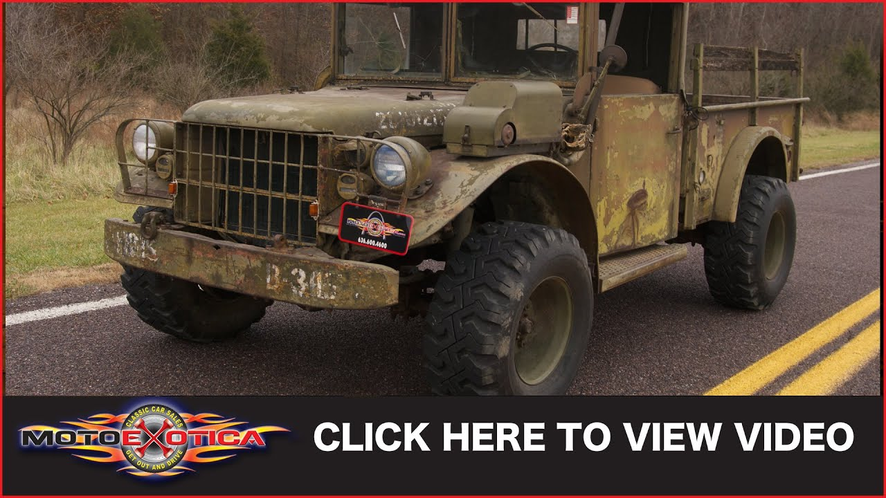 1953 Dodge M37 Powerwagon Sold Youtube 1954 Power Wagon