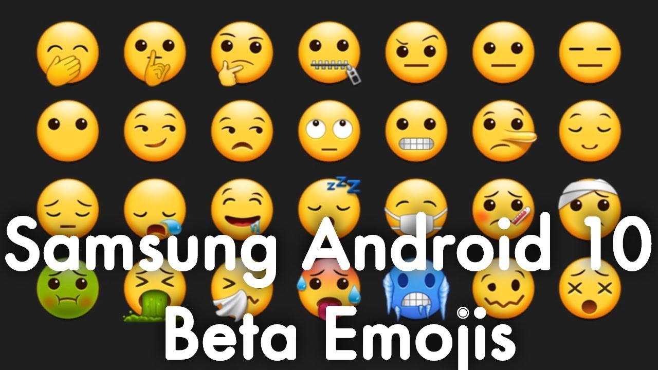 New Samsung Galaxy Android 10 One Ui 2 0 Beta Emojis 2019 Youtube