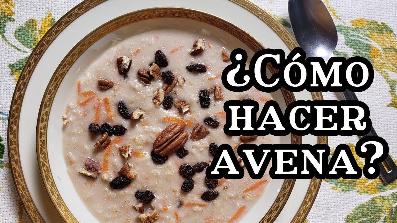 Desayuno Saludable - Avena para bajar de peso - YouTube