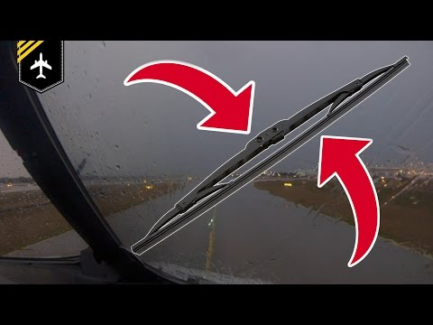 Do airplanes have windscreen wipers? explained by Captain Joe