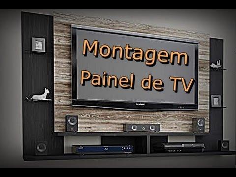 Montagem de Painel TV - Painel de TV Caemmun Domínio - Faça Você Mesmo a Montagem - FVM