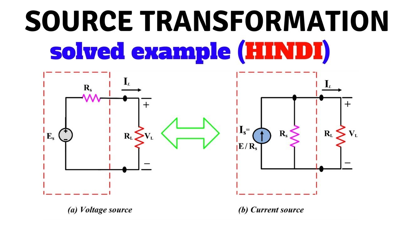 Source Transformation With Solved Example In Hindi First Year Beee