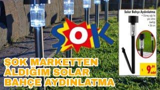 Şok Marketten Solar Lamba Aldık Denedim. ☀️😲 #solar #solarlamba #solarbahçelambası