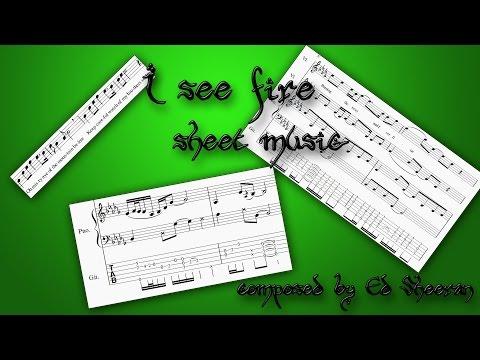 I See Fire - Ed Sheeran [Sheet Music for Guitar, Piano and Violin]