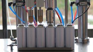220g butane gas cartridge aerosol refilling Machine