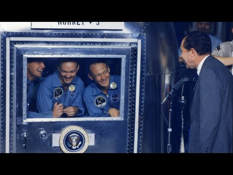 Historic Apollo 11 Footage: Returning To Earth After Moon Landing