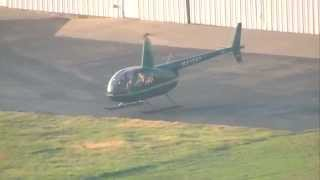 Departing KRVS in Robinson R44 Helicopter for Oklahoma city Photo flight