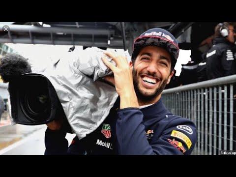 Daniel Ricciardo films Mercedes garage