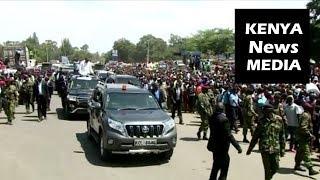 Uhuru Kenyatta and Raila at Nyamasaria Kisumu STOPOVER to Address the Crowd!!!