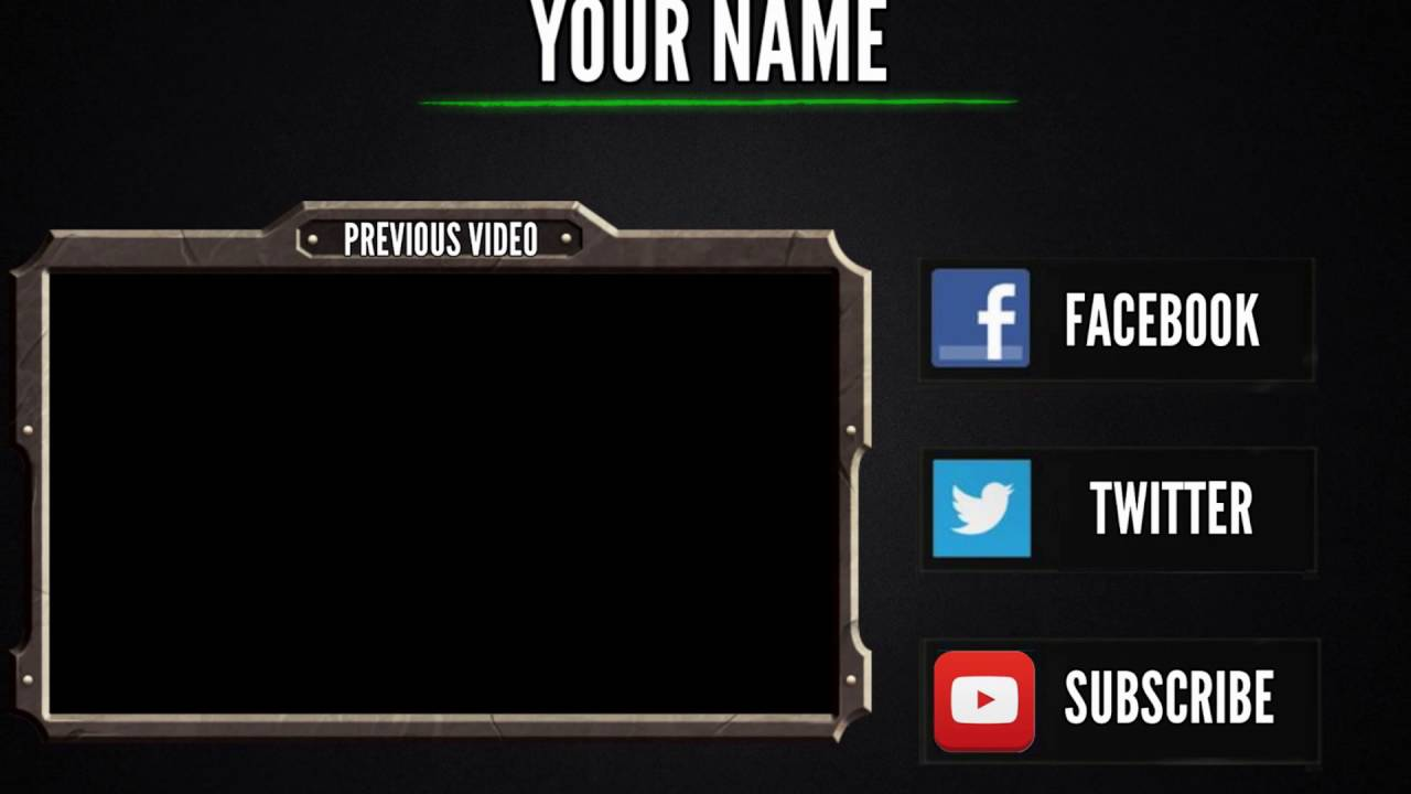 gaming hd outro template youtube. Black Bedroom Furniture Sets. Home Design Ideas