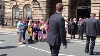 The Queen Leaves Liverpool Town Hall June 2016