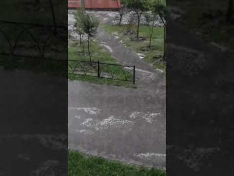 Град ливень в омске 9.06.2017