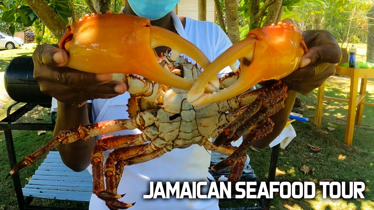 MASSIVE KING CRAB AND LOBSTER COOK - JAMAICAN SEAFOOD TOUR!!