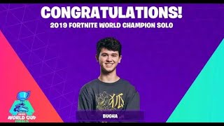 Fortnite Solo World Cup Winner SEN Bugha All Late Game Replay Moments (Kills and Deaths)