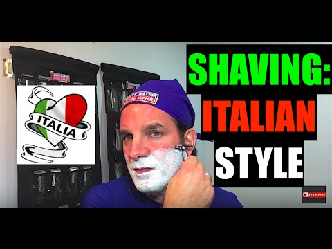 Shaving: Italian Style! Shave With Italian Products.