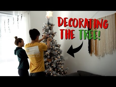 Decorating the Christmas Tree! & mean guy at the ups store lol (vlogmas day 7!)