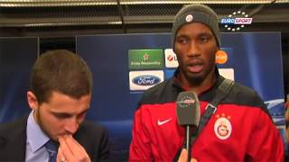 Eden Hazard and Didier drogba - Eurosport Interview
