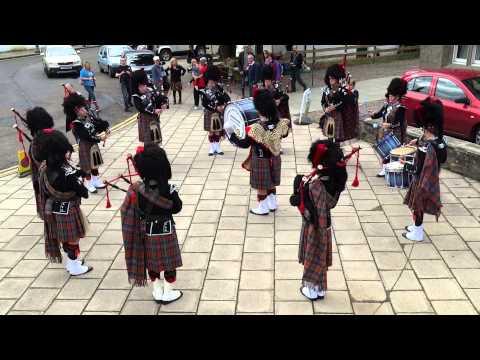 Pipe Band The Square Dunkeld Perthshire Scotland