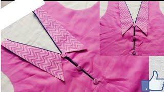 latest neck design, new kurti neck design, gala design latest, collar neck design cutting and stitch