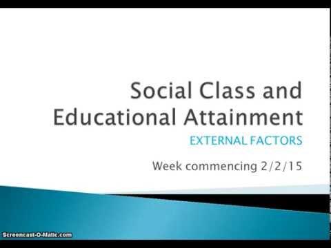 Education - Social class External Factors