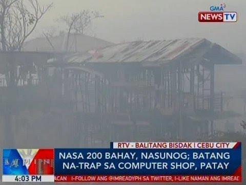 BP: Nasa 200 bahay sa Cebu City, nasunog