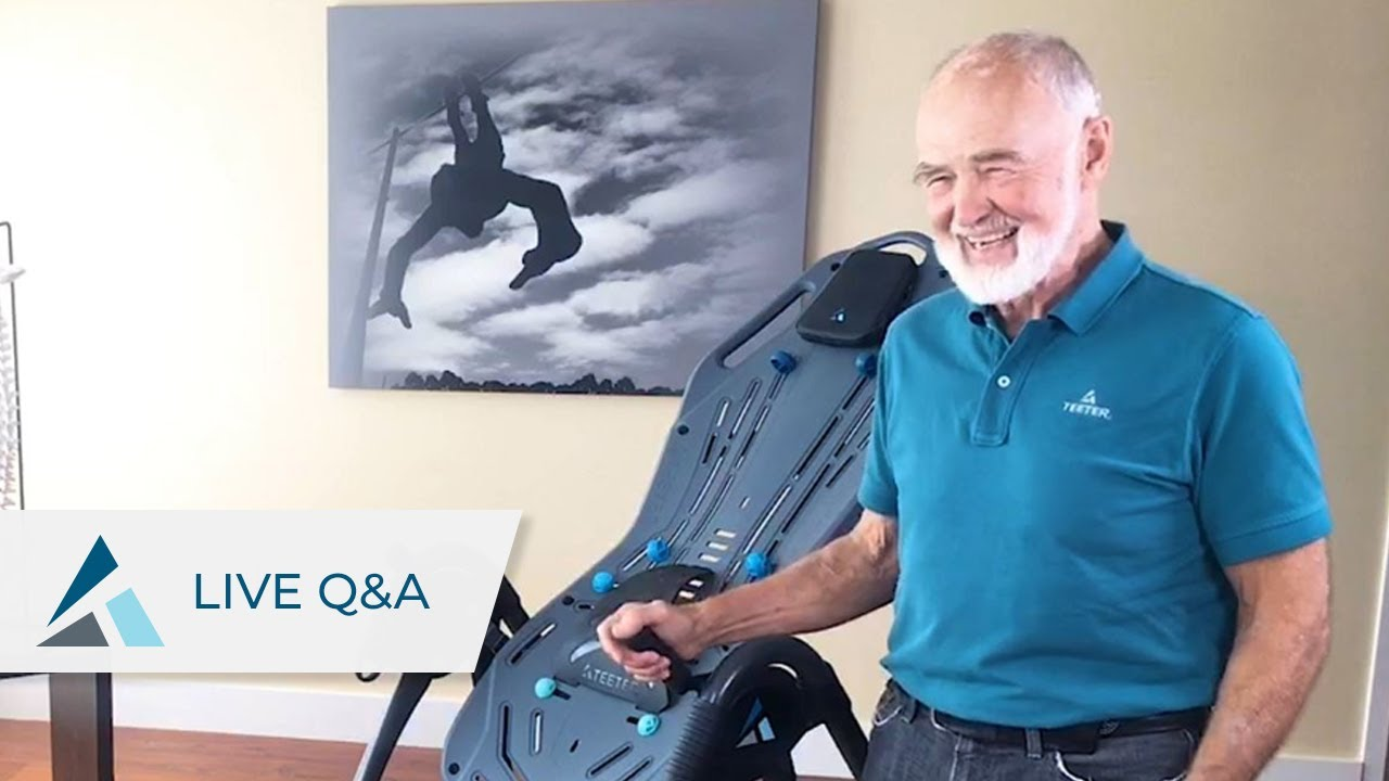 Q A With Roger Teeter Inversion Tables And Back Pain Relief