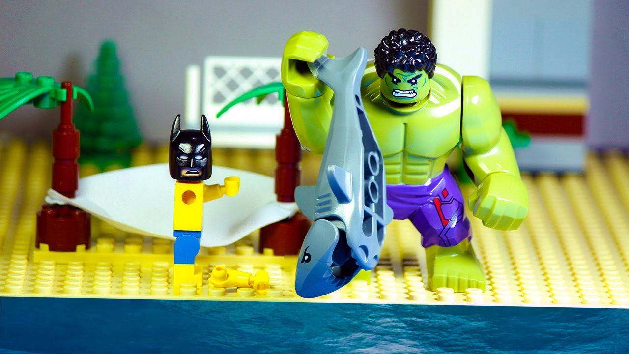 Lego Batman and Hulk Shark Attack - YouTube