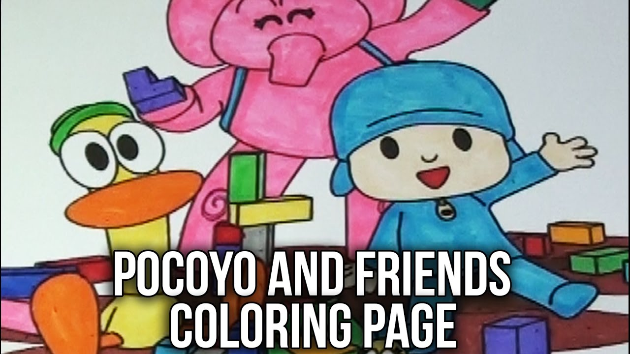 pocoyo coloring book pocoyo and friends speed coloring page for kids - Pocoyo Friends Coloring Pages