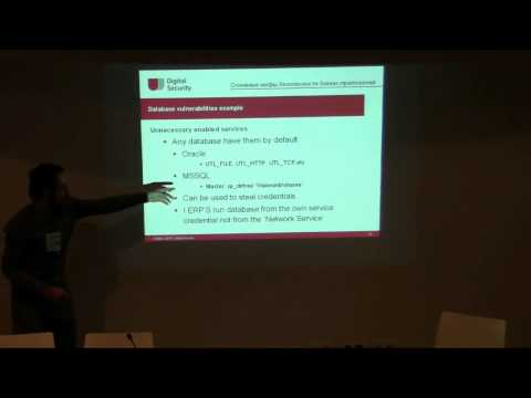 SOURCE Barcelona 2010: ERP Security: Myths, Problems, Solutions