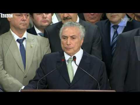 Acting Brazil President Michel Temer urges trust   BBC News