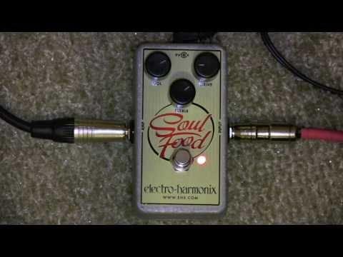 Electro Harmonix Soul Food Overdrive Pedal Demo