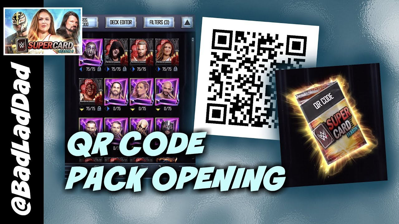 WWE SUPERCARD: HOW TO GET THE QR CODE! TBG + RTG