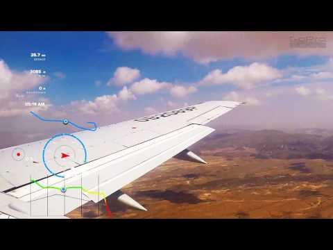 Timelapse Peru Air landing Arequipe Peru 2600m ASL goPro5 with telemetry. HD