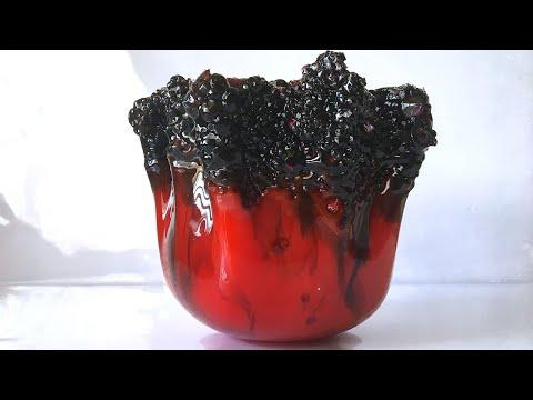 Lava-Inspired Freeform Epoxy Resin Bowl