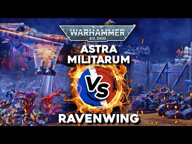 RAPPORT DE BATAILLE WHR 40.000 - Astra militarum VS Ravenwing - Teaser -