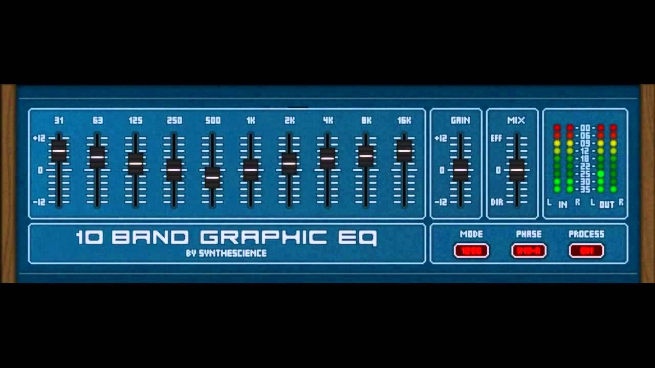 10 band graphic eq (acoustic guitar) by synthescience youtube