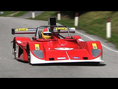 March 75S Ford DFV V8 Engine Sound In Action On Hillclimb - Alpe del Nevegal 2016