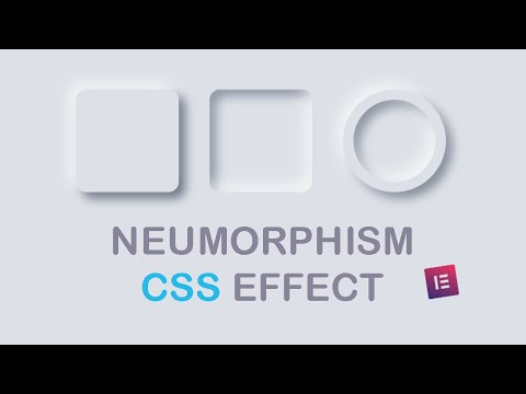 How To Create Neumorphism Effect With CSS | HTML CSS Effects | Elementor | Web Cifar 2020